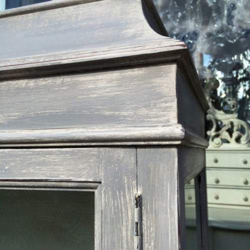 Corner of grey cabinet