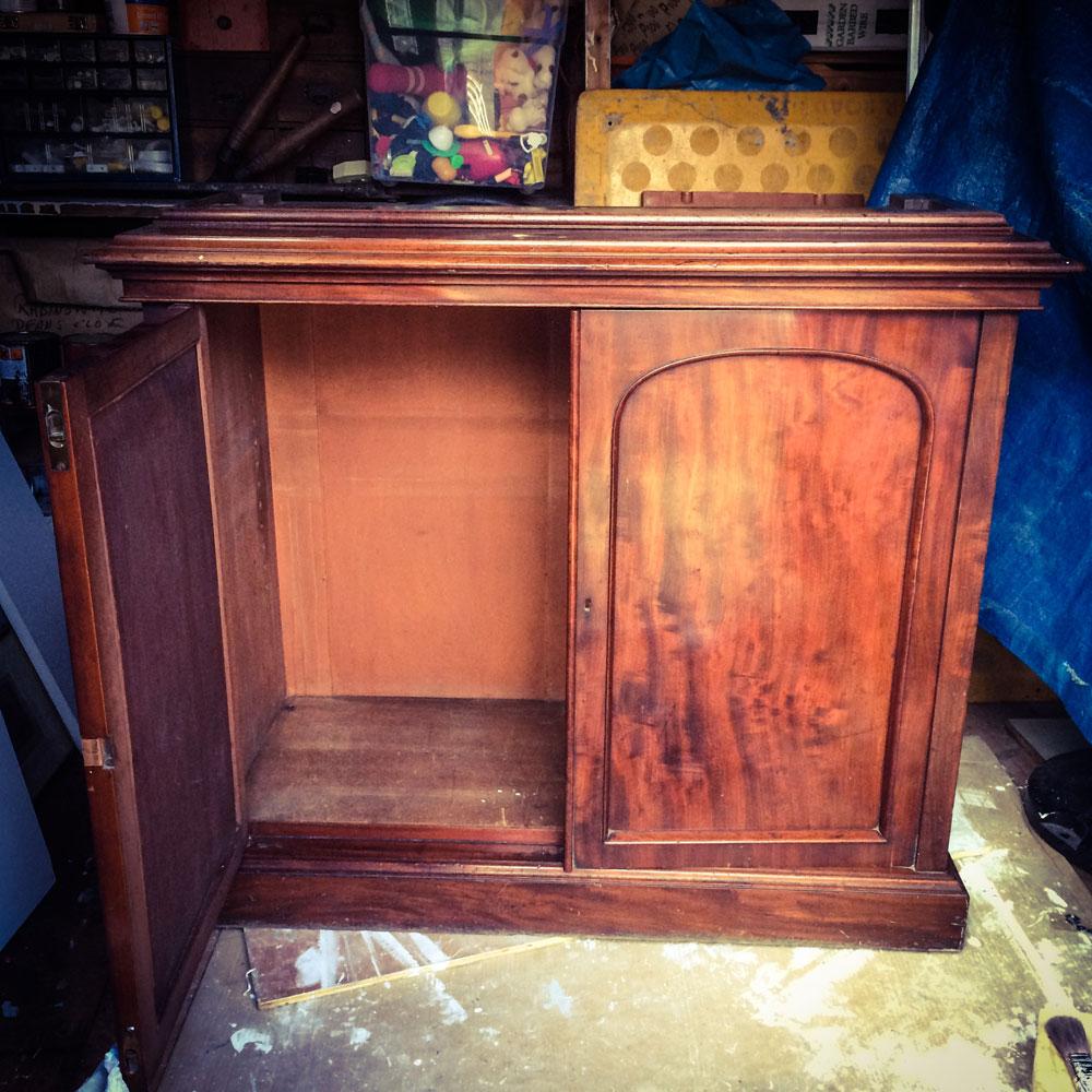 Bookcase-unpainted-door-open