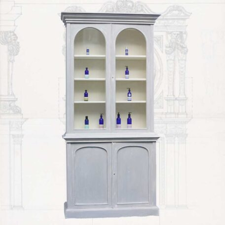 Painted Victorian bookcase Napoleonrockefeller.com