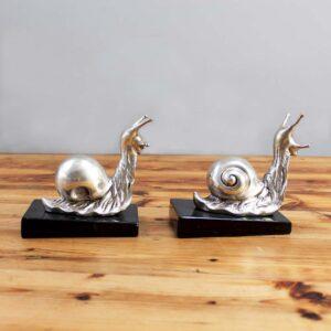 Retro Snail Bookends