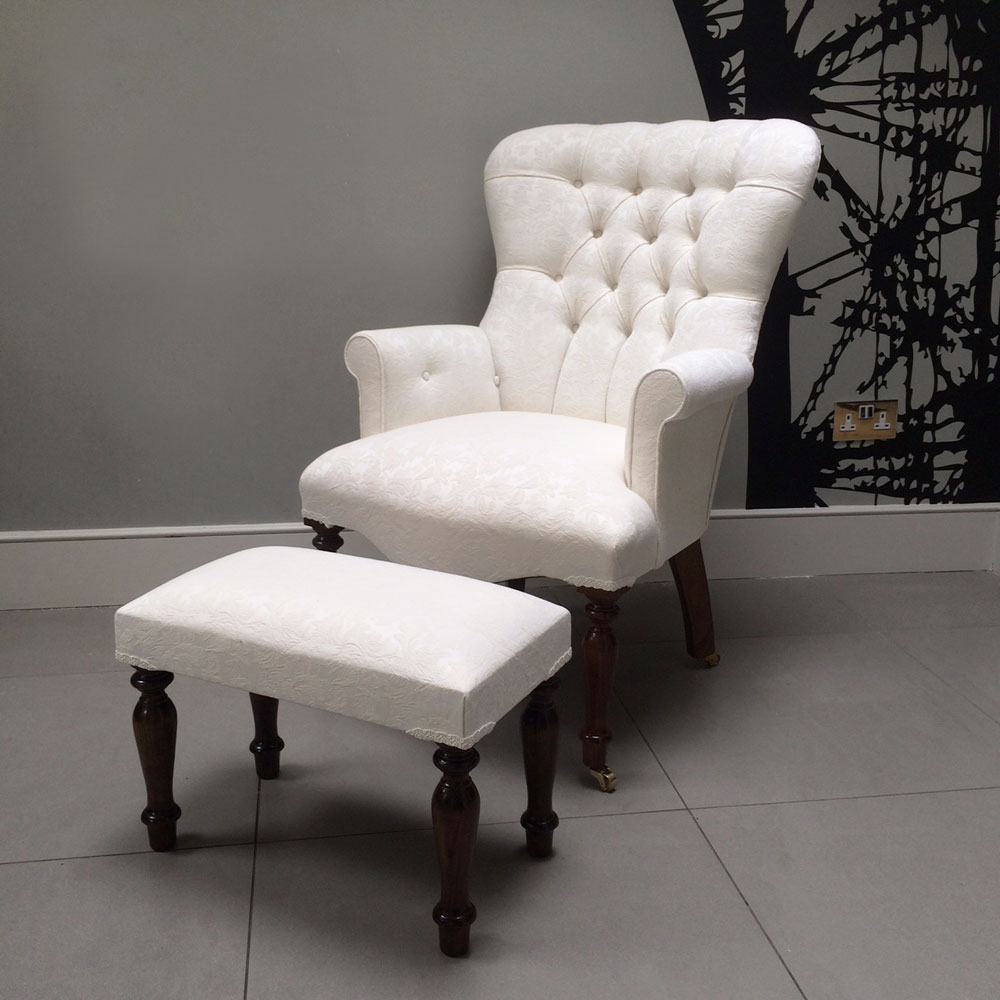 Lily Armchair With Footstool