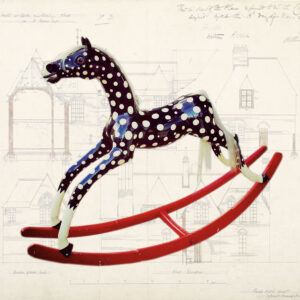 Antique Wooden Rocking Horse SOLD