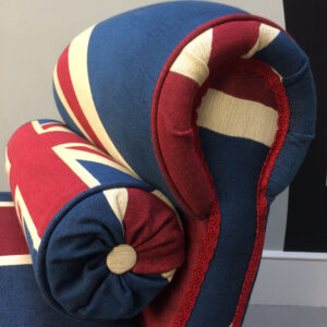 Winston Union Jack daybed|Winston Union Jack Chair|Union Jack chair|Union Jack Lounge chair| Union Jack seating|Union Jack armchair|handcrafted seating|antique style|interiors|interior design| antique style| vintage style| homedecor| homestyle| Union Jack chaise|London|Napoleonrockefeller.com