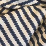 Upholstered armchair bespoke chair bespoke armchair blue stripe pinstripe fabric napoleonrockefeller.com wimbledon