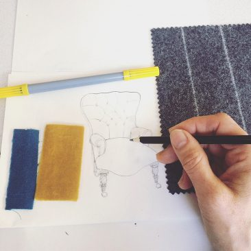 New Designs Afoot – Velvets & Pinstripe