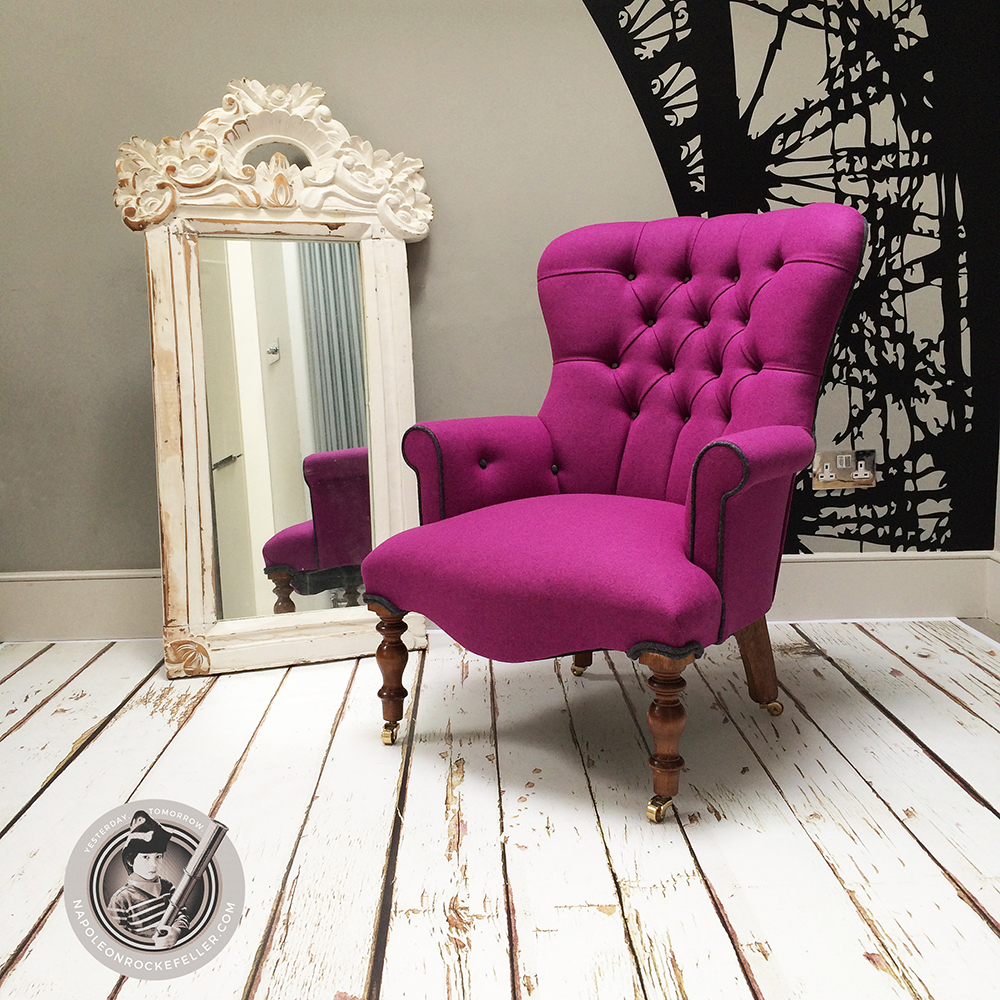 ... Pink Wool Chair|Abraham Moon Wool|Upholstered Chair| Bespoke Chair|pink  Armchair ...