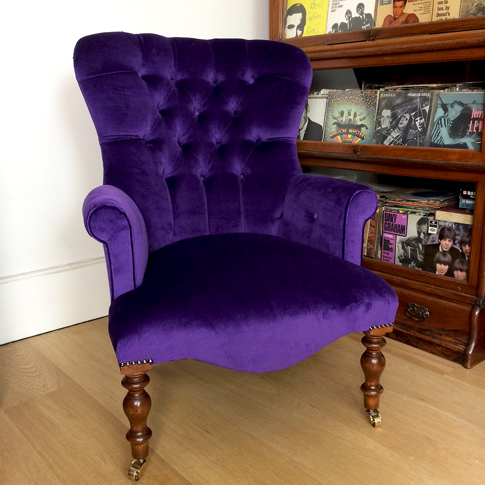 Perfect ... Purple Velvet | Velvet Chairs|velvet Armchairs| Bespoke Seating|  Armchairs| Lounge Chairs ...