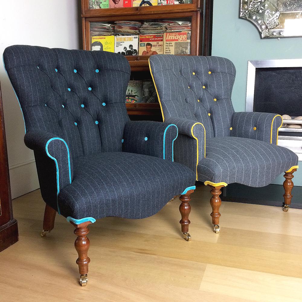 Antique velvet chair - Moon Fabrics Abraham Moon Fabric Moon Upholstery Moon Upholstered Blue Velvet Chair