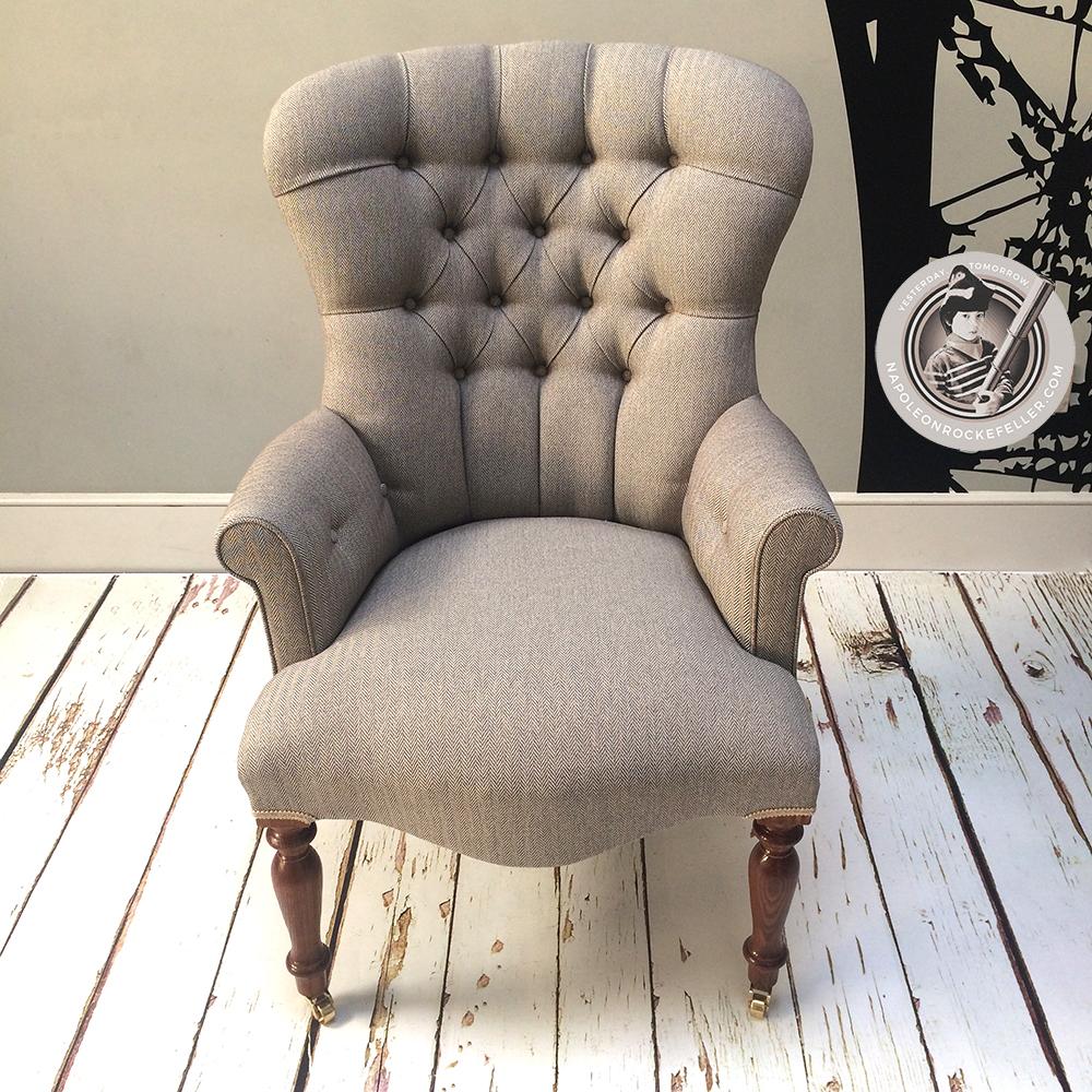... Brown Chair|Beige Chair|tweed Chair|herringbone Chair|library Chair|bedroom  ...