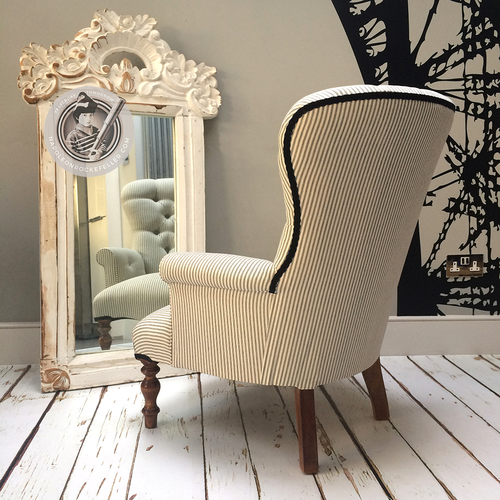 ... Bespoke Chairs|stripey Chair| Striped Chair|stripes| Upholstered Chair|  Vintage Style ...