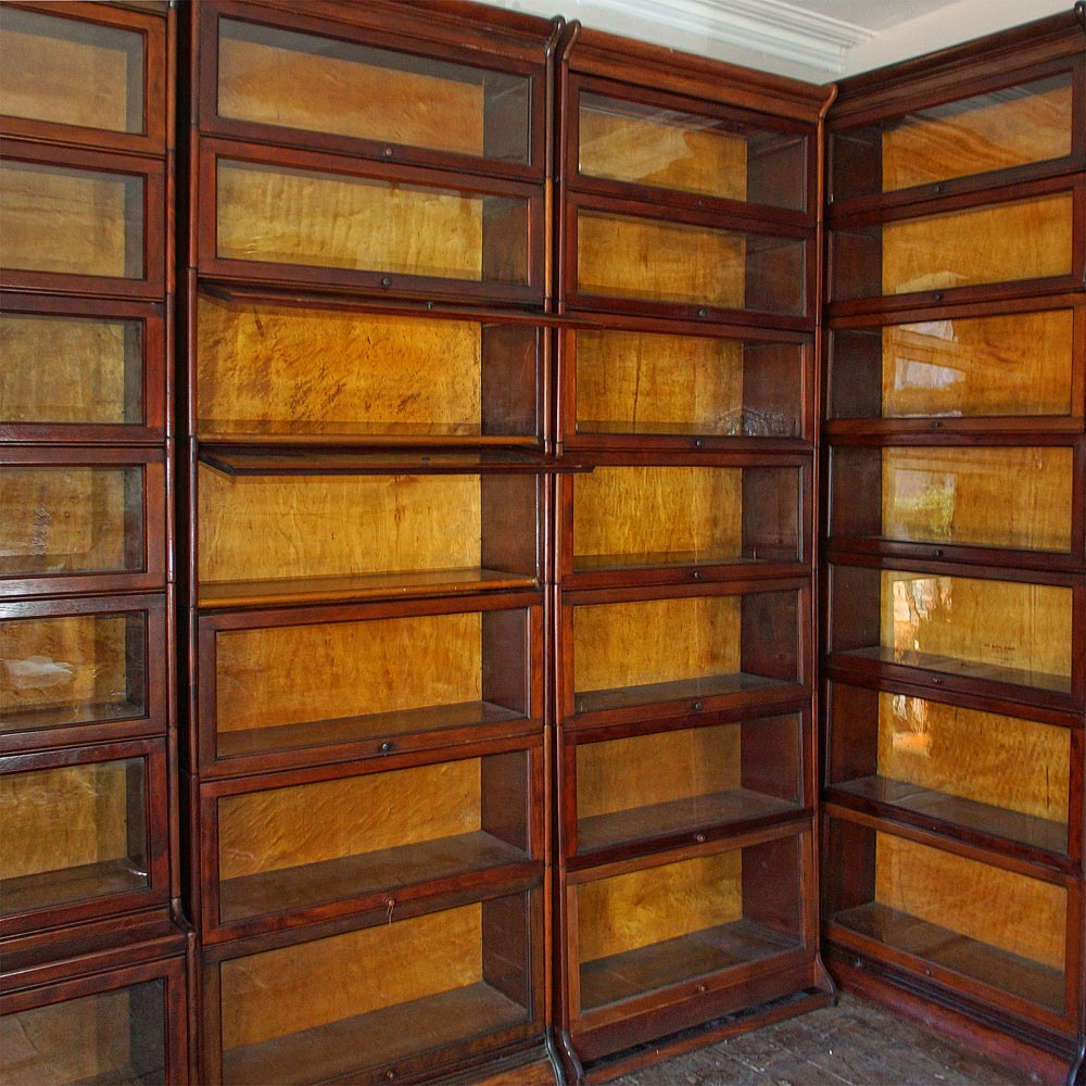 barrister office bookcase wernicke mahogany stacking globe bookcases reproduction