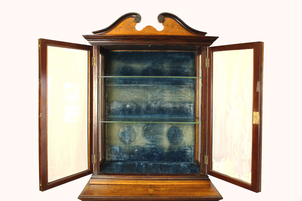 Antique Display Cabinet  Glass Fronted Edwardian Rosewood Napoleonrockefeller.