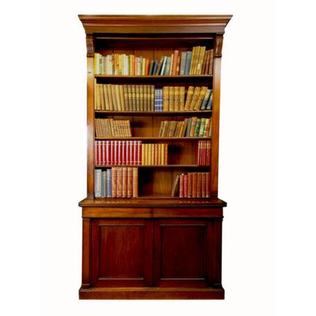 Victorian-mahogany-open-bookcase-Wide-shot Napoleonrockefeller.com