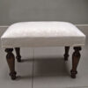 White floral footstool handcrafted in the UK|Napoleon Rockefeller.com