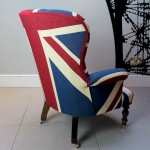 Winston Union Jack vintage style armchair, high quality drill cotton Union Jack flag-Napoleon Rockefeller.com