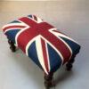 Winston Union Jack vintage style footstool, high quality drill cotton Union Jack flag-Napoleon Rockefeller.com