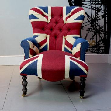 Winston Union Jack vintage style armchair - Napoleon Rockefeller.com