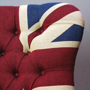 Winston Union Jack vintage style armchair, handmade Napoleon Rockefeller.com
