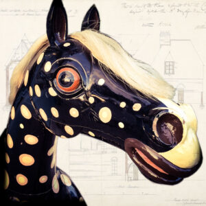 Antique-painted-rocking-horse-collectable-Victorian-Napoleonrockefeller.com