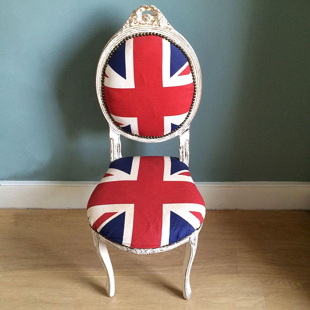 Antique Style Painted Union Jack Chair Napoleonrockefeller.com ...