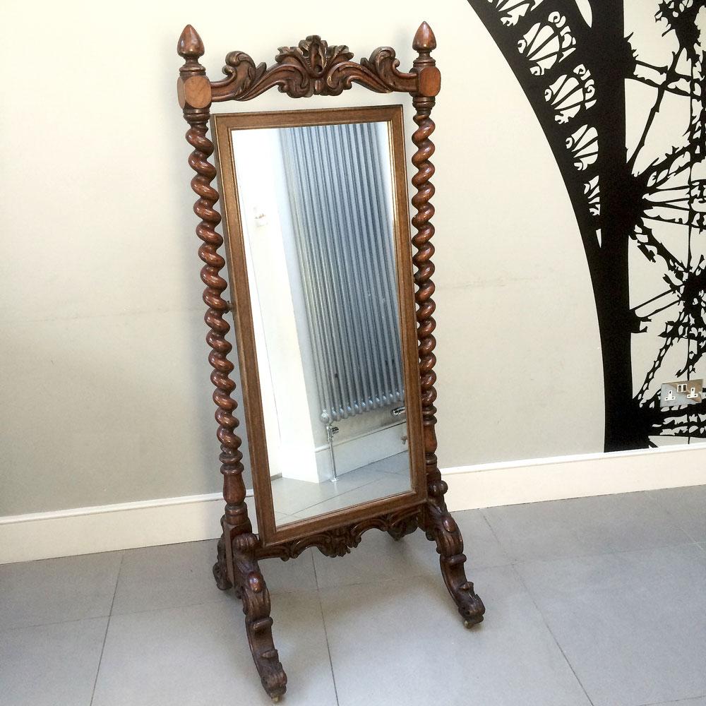 Victorian Antique Mirror Cheval Free Standing Napoleonrockefeller Com
