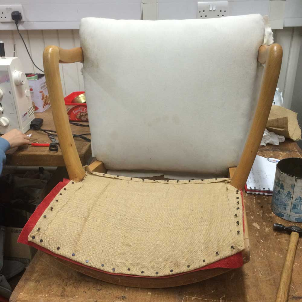 Office Chair Small leather piece hessian back complete Napoleonrockefeller.com