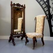Antique-Victorian-Prayer-Chair-seating-Napoleonrockefeller.com