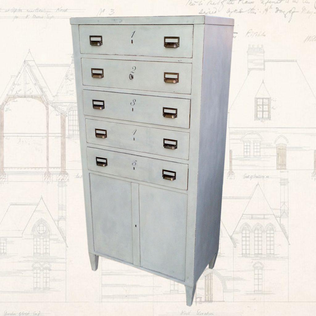 Painted-Vintage-Filing-Cabinet-front-view-napoleonrockefeller.com