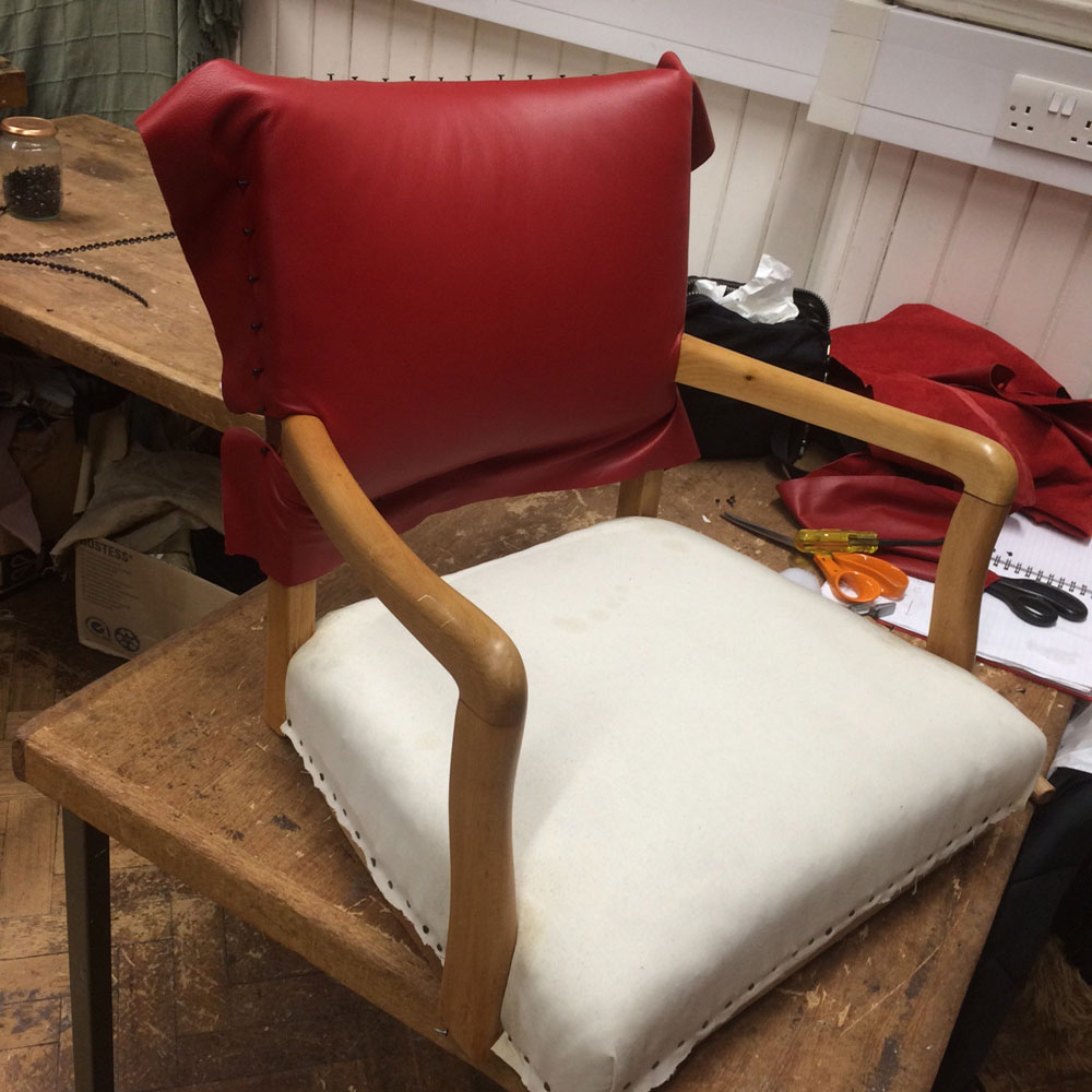 Upholstery-retro-leather-chair