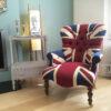 Winston Union Jack Chair|antique style armchair| buttonback chair| interiors|Union Jack chair|Union Jack Lounge chair| Union Jack seating|Union Jack armchair|Napoleonrockefeller.com