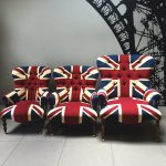 Winston Union Jack Chair|Union Jack chair|Union Jack Lounge chair| Union Jack seating|Union Jack armchair|handcrafted seating|antique style chairs| buttonback armchair| vintage style| antique style| interiors| interiordesign| homedecor| homestyle| London| Made in England|Napoleonrockefeller.com