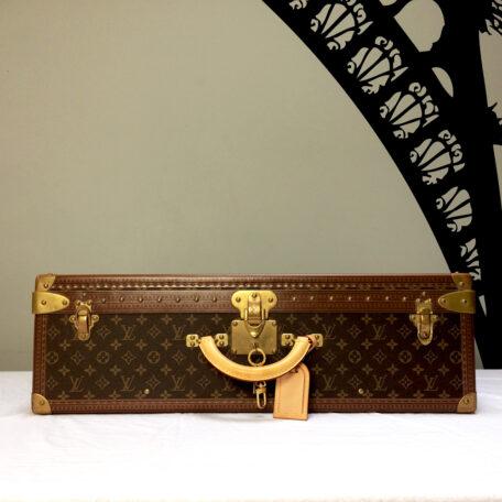 Vintage Louis Vuitton suitcase Louis Vuitton case Alzer 70 iconic Vuitton designer luxury luggage Napoleonrockefeller.com