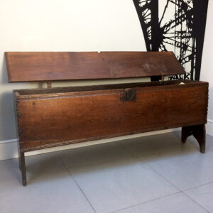 Antique Bench End Coffer SOLD