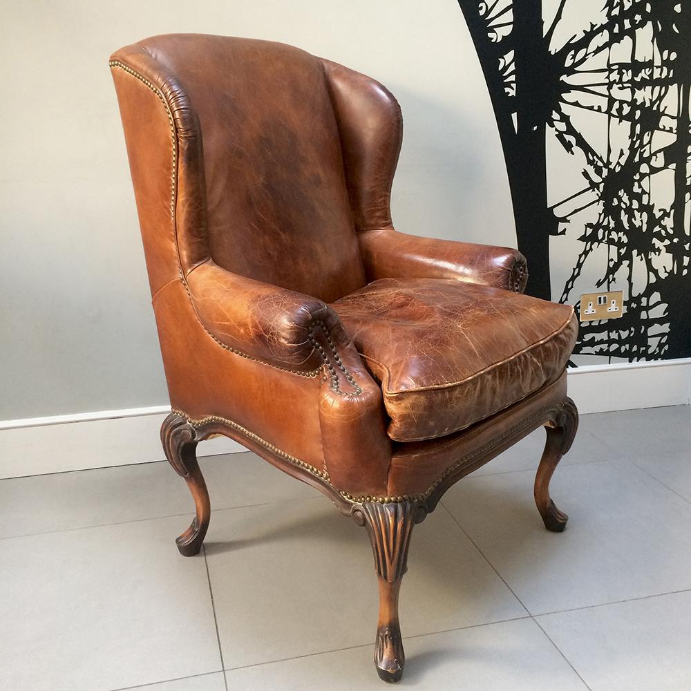 ... Club Chair|brown Leather Armchair|leather Armchair|vintage Club Chair|Napoleonrockefeller.  ...