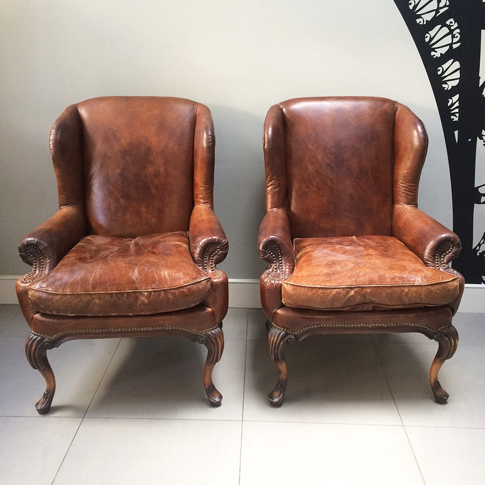 ... Club Chairs|brown Leather Club Chairs|leather Armchairs|gentlemans  Study| Brown Leather ...