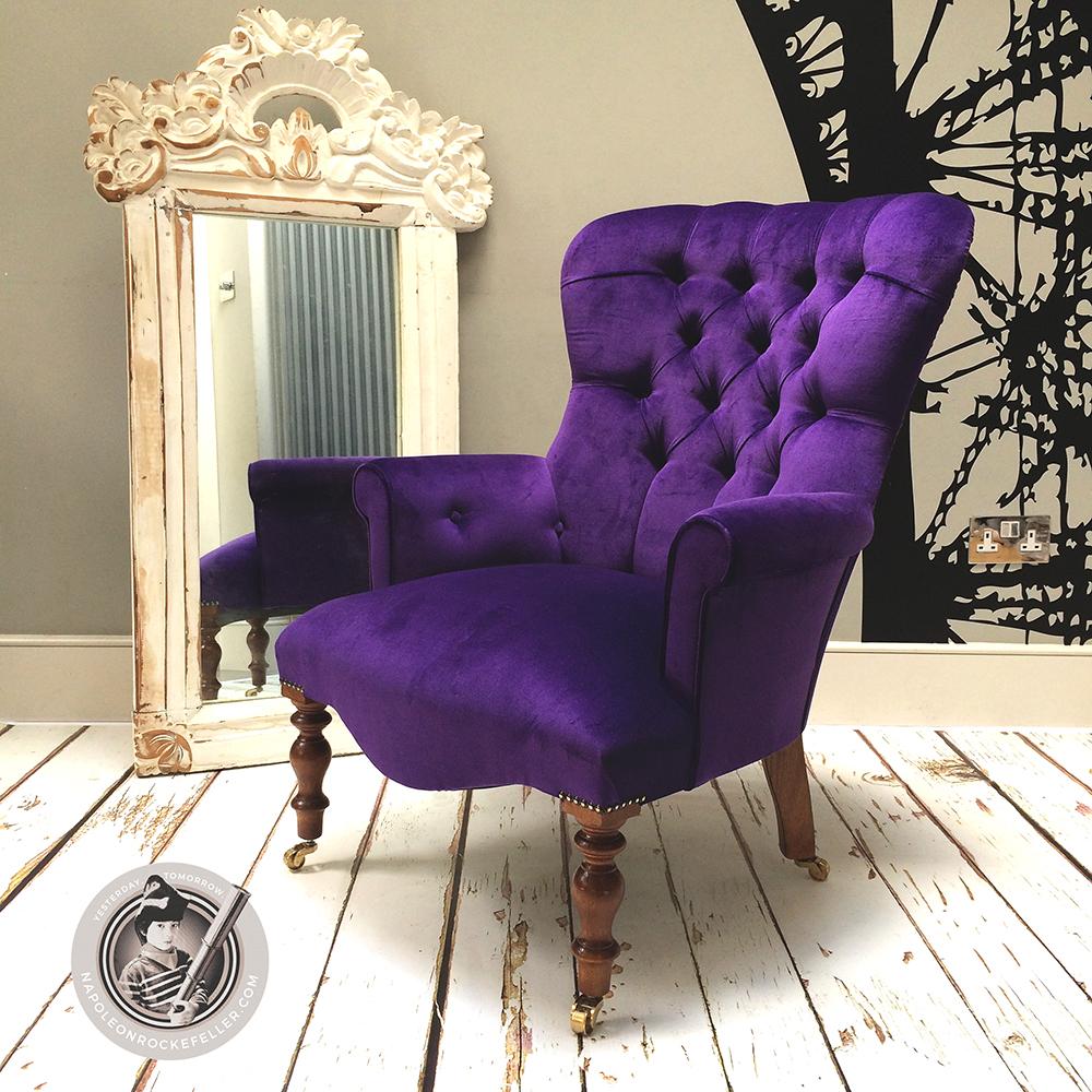 Superieur Purple Velvet|purple Velvet Chairs|velvet Chairs|velvet Armchair| Purple  Velvet Chairs
