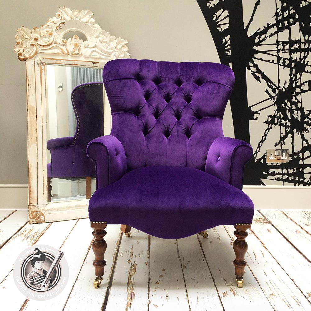 ... Purple Velvet|purple Velvet Chairs|velvet Chairs|velvet Armchair| Purple  Velvet Chairs ...