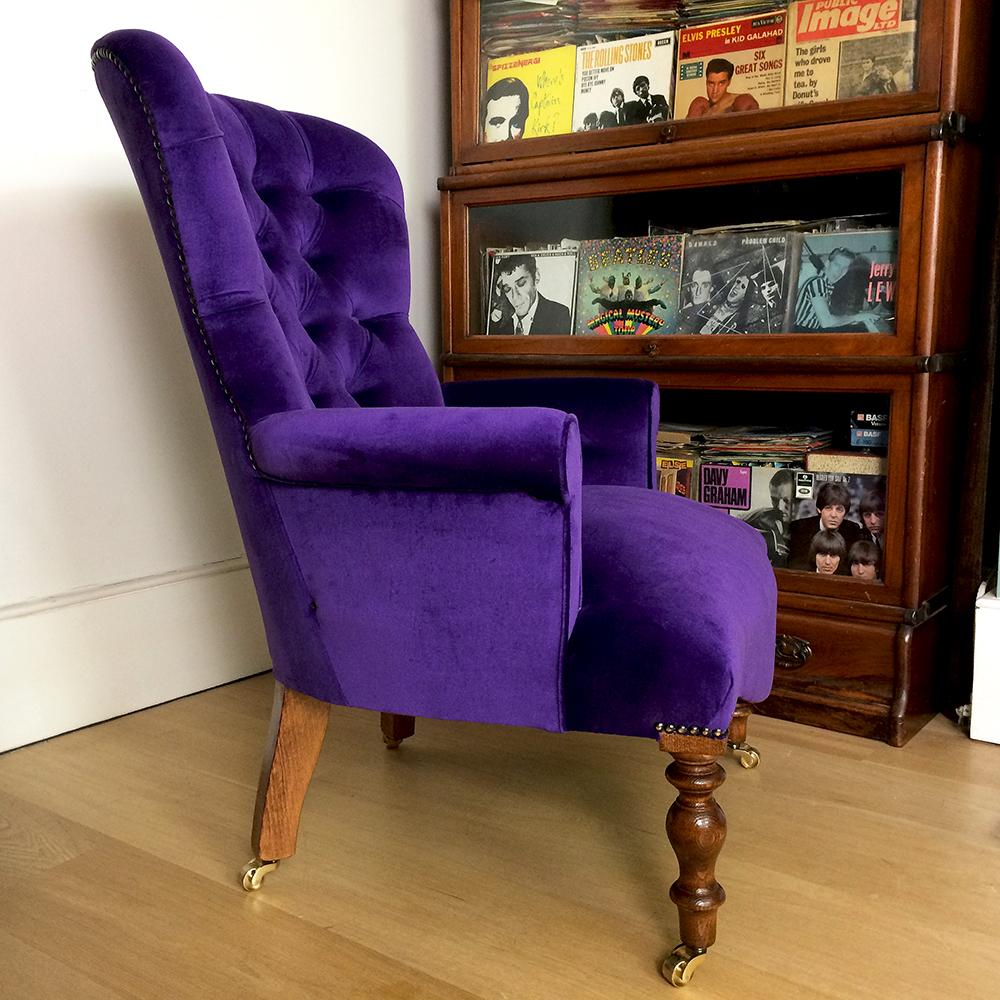 ... Purple Velvet Chair purple Velvet Armchairs  Velvet Armchairs velvet  Chairs bespoke Seating ...