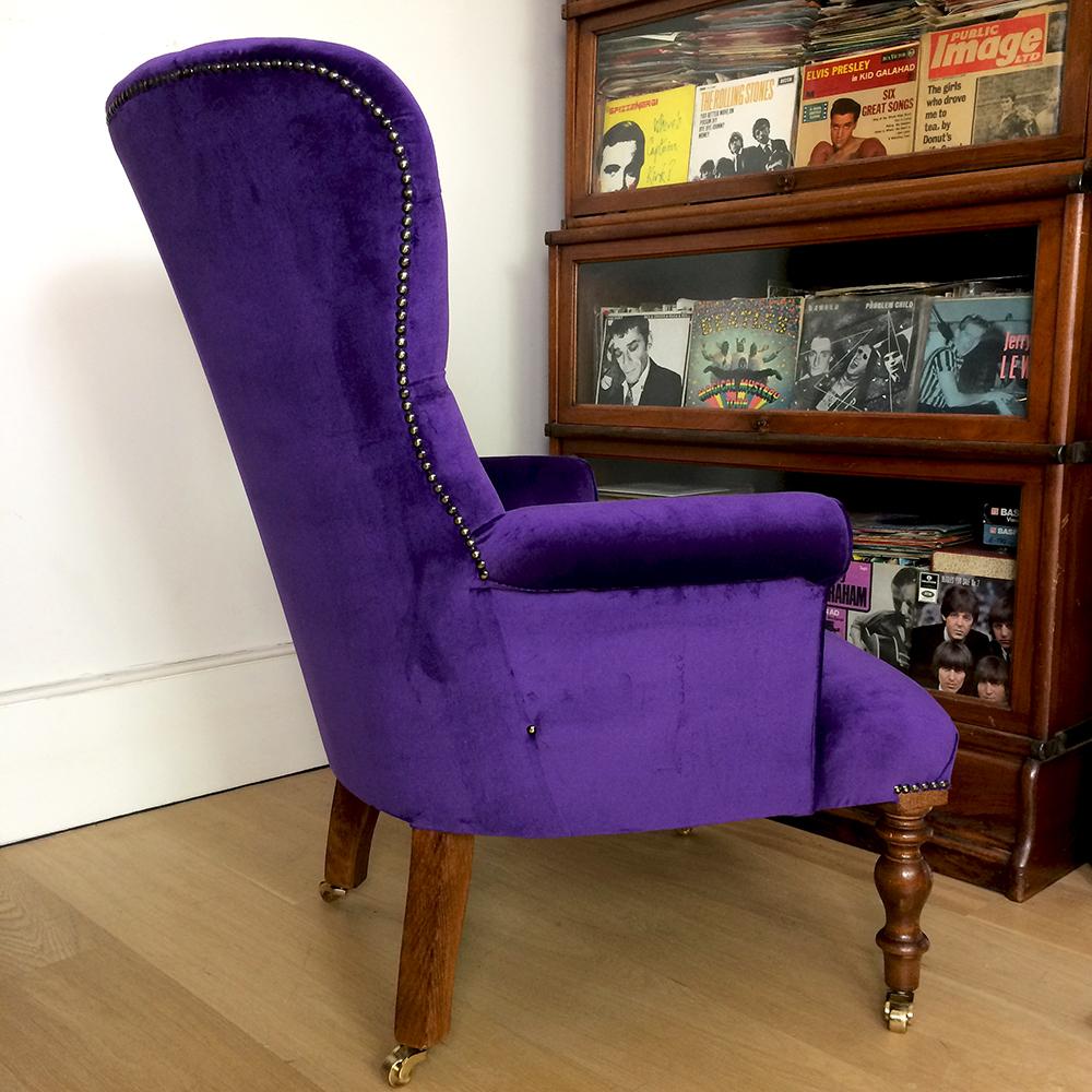 Exceptionnel ... Purple Velvet Chair|purple Velvet Armchair|velvet Armchairs|velvet  Lounge Chairs|velvet
