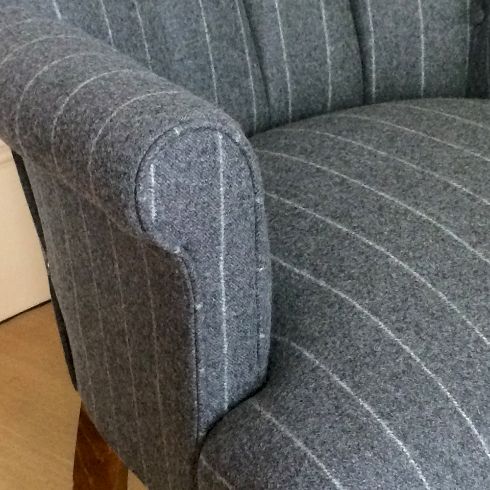 ... Grey Wool Chairs|grey Wool Armchairs| Wool Armchairs| Grey Pinstripe  Armchair|bespoke ...