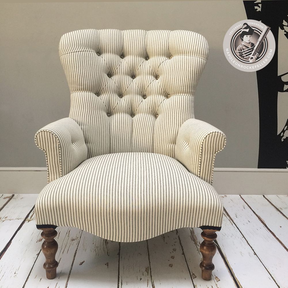 Bespoke Chairs|stripey Chair| Striped Chair|stripes| Upholstered Chair|  Vintage Style