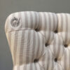 Russian Linen|stripe|stripey|striped chair|upholstered|button back| vintage style|upholstery|handcrafted|seating|armchair|napoleonrockefeller.com|bespoke chairs|made in England|interiors|home decor| Chair Notting Hill| Chair Portobello| Chair N1| Chair W1| Chair SW1| Chair Islington| Chair Battersea| Chair Clapham| Chair Wimbledon| Chair Richmond| Chair Chiswick| Chair Walthamstow| Chair Hampstead| Chair Berkshire| Chair Hampshire| Chair Midlands| chair Nottingham| chair Sussex| chair Kent| chair Surrey| chair London