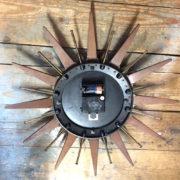 sunburst/sunburst clock/retro clock/ vintage clock/ clock/vintage interiors/interior design/london home decor/modern design/home accessories/ London decor
