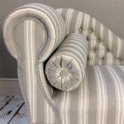 grey stripe|grey|stripe|stripy|stripes|grey chaise|grey chair|grey interiors|grey stripe| grey seating|interiors|home decor|homestyle| chaise longue|napoleonrockefeller.com|bespoke chairs