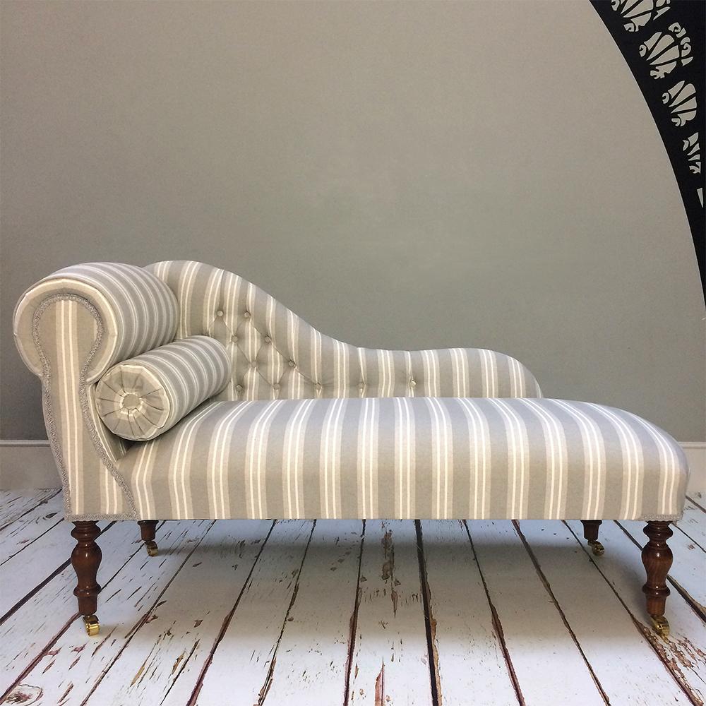 grey stripegreystripestripystripesgrey chaisegrey chair - Chaise Vintage