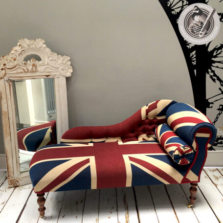 Union Jack chaise|Union Jack chair| Union Jack seat| Union Jack| British| Hand-crafted chair|chaise|chaise longue| chaise London| British flag | Union Jack London| Interiors| Interior design| Union Jack interiors| Union Jack bespoke| Union Jack home decor| Union Jack products| Union Jack gifts| Union Jack antiques