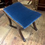 Blue velvet|velvet stool| velvet dressing room| velvet chair| upholstered stool| blue velvet chair| blue velvet upholstery| velvet seating| bedroom furniture| velvet piano stool| home decor| home interiors| interiors London| London home decor| London chair| London stool Vintage stool| Vintage interiors| vintage home| vintage styling| Wimbledon furniture| London home