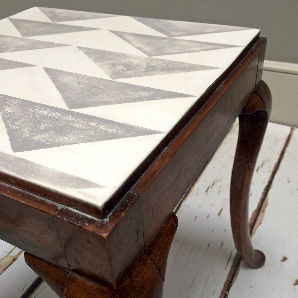 ... Geometric Pattern|geometric Painted|modern Designer|side Table| Coffee  Table| Pair ...