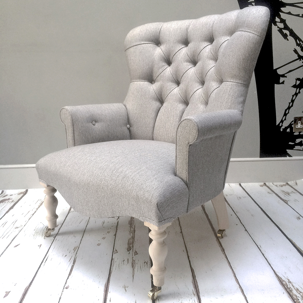 Superieur Grey Armchair|Grey Herringbone|Grey Armchair|grey Chair|grey Sofa|grey