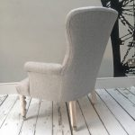 grey herringbone| grey chair| grey armchair| grey sofa| grey seating| grey long chair| grey bedroom chair| grey furniture| herringbone fabric| upholstered| button back chair| vintage style armchair| vintage styling| dove grey chair| light grey chair| light grey armchair| grey armchair London| London armchair| London sofa| London homedecor| London seating| Wimbledon interiors| London interiors| grey painted| Frenchstyle furniture| French style furniture| interior design London